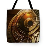 Golden And Brown Spiral Stairs Tote Bag