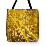 Golden And White Leaves Tote Bag