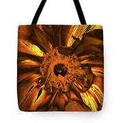 Golden Anemone Tote Bag