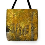 Golden Aspen Tote Bag