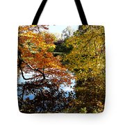 Golden Autumn Trees Tote Bag