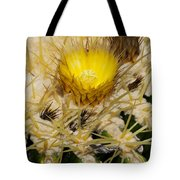 Golden Barrel Blossom Tote Bag