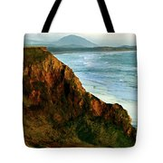 Golden Beach Cliff Side  Painterly Tote Bag