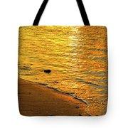 Golden Beach Sunset Tote Bag