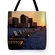 Golden Benches Tote Bag