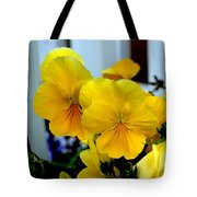 Golden Blooms Beside The Porch Tote Bag