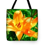 Golden Blossom Tote Bag