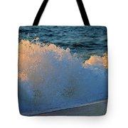 Golden Blue Splash Tote Bag