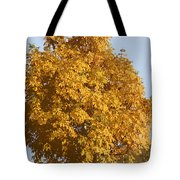 Golden Branches Round Tote Bag