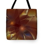 Golden Bronze Swirl Tote Bag
