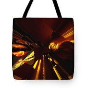 Golden Brown Abstract Tote Bag