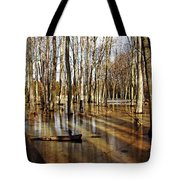 Golden Brown Pond Tote Bag