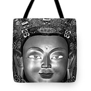Golden Buddha Monochrome Tote Bag