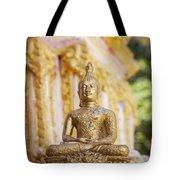 Golden Buddha Ornament Tote Bag