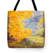 Golden California Sycamores Tote Bag