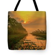 Golden Canal Morning Tote Bag