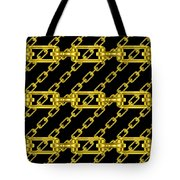 Golden Chains With Black Background Seamless Texture Tote Bag