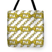 Golden Chains With White Background Seamless Texture Tote Bag
