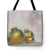 Golden Christmas Balls - 3d Render Tote Bag