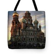 Golden Church Tote Bag