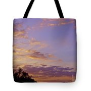 Golden Clouds At Sunset Tote Bag