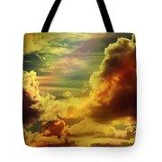 Golden Clouds Tote Bag