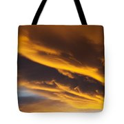 Golden Clouds Tote Bag by Garry Gay