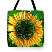 Golden Cone Flower Tote Bag