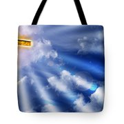Golden Cross Tote Bag