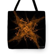 Golden Crosshatch Scribble  Tote Bag