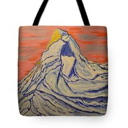 Golden Dawn On Matterhorn Tote Bag