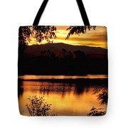 Golden Day At The Lake Tote Bag