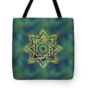 Golden Decorative Star Of Lakshmi - Ashthalakshmi  Tote Bag
