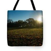Golden Dew Autumn Sunrise Tote Bag