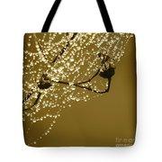 Golden Dewdrops Tote Bag