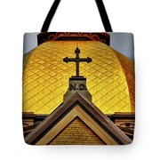 Golden Dome Notre Dame Tote Bag