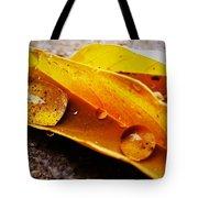 Golden Droplets Tote Bag