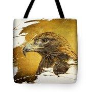 Golden Eagle Grunge Portrait Tote Bag