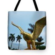 Golden Eagle Take Off Tote Bag