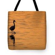 Golden Egret Tote Bag