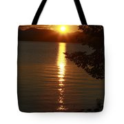 Golden Evening Sun Rays Tote Bag