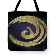 Golden Exotic Bird Abstract Tote Bag