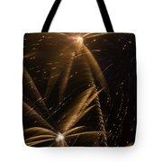 Golden Fireworks Tote Bag