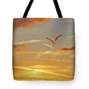 Golden Flight Tote Bag