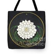 Golden Flower Mandala Tote Bag