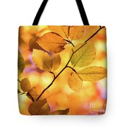 Golden Foliage Tote Bag
