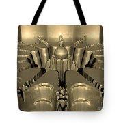 Golden Fractal #1 Tote Bag