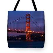 Golden Gate At Dusk Tote Bag