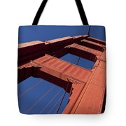 Golden Gate Bridge At An Angle Tote Bag by Garry Gay