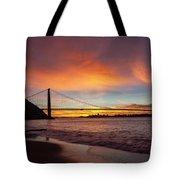 Golden Gate Bridge At Dawn Tote Bag